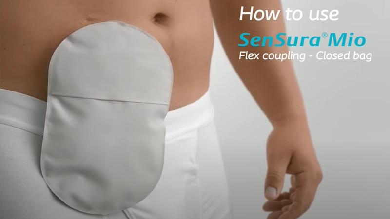 How to use SenSura® Mio Flex coupling - Closed bag
