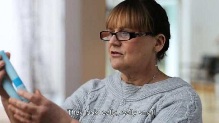 Première réaction d'une infirmière à la nouvelle sonde