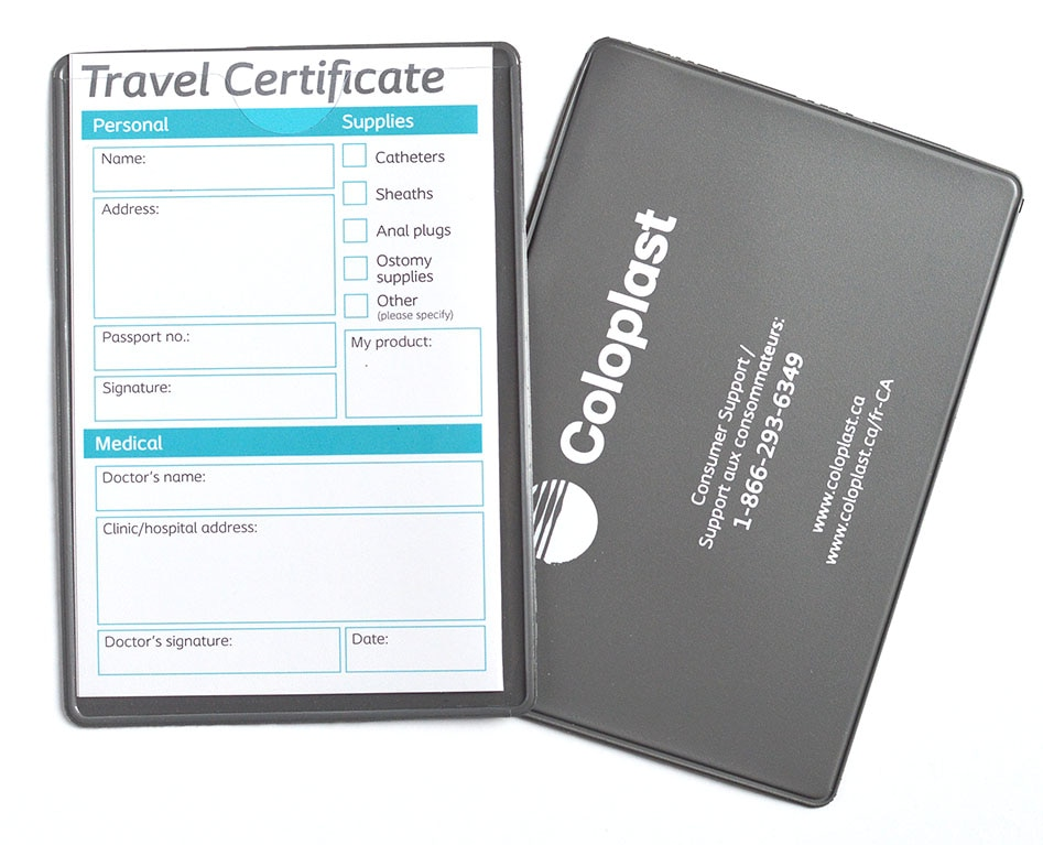 New Coloplast Travel Card! <br>