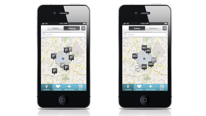 Easily find accessible toilets and parking